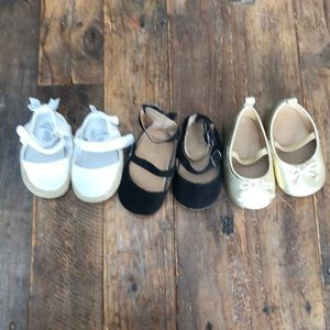 Lot of 3 baby shoes Old Navy & Children's Place